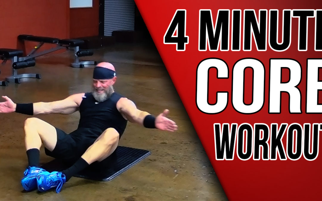 4 Minute Core Workout | 3 Exercises for Lower Abs, Upper Abs & Lower Back